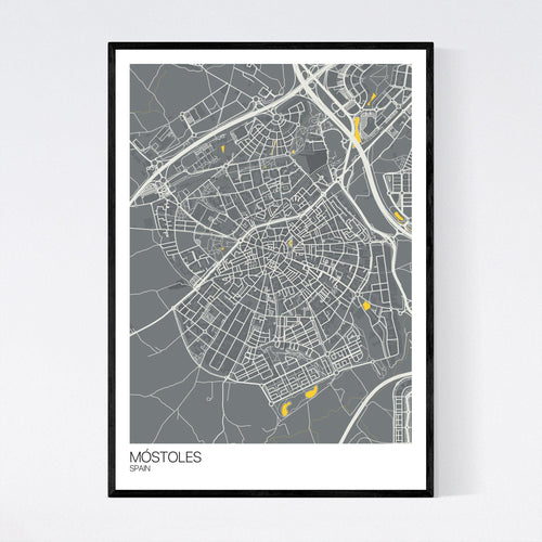 Map of Móstoles, Spain