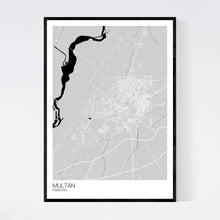 Load image into Gallery viewer, Multan City Map Print