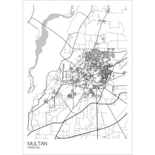 Load image into Gallery viewer, Map of Multan, Pakistan