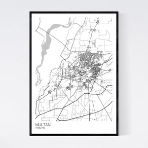Map of Multan, Pakistan