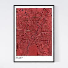 Load image into Gallery viewer, Munich City Map Print