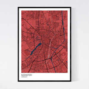 Münster City Map Print