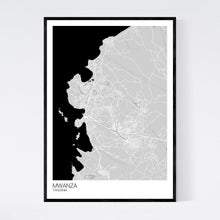 Load image into Gallery viewer, Mwanza City Map Print