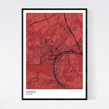 Load image into Gallery viewer, Namur City Map Print