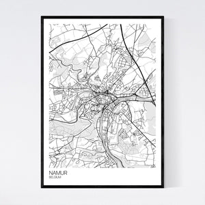 Namur City Map Print