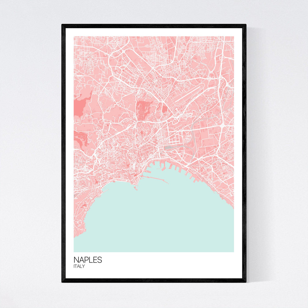 Map of Naples, Italy