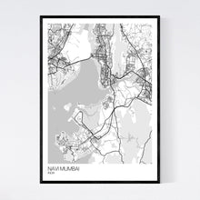 Load image into Gallery viewer, Map of Navi Mumbai, India