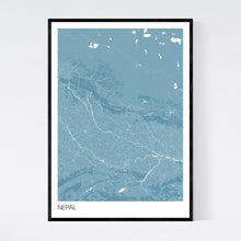 Load image into Gallery viewer, Nepal Country Map Print