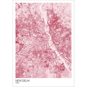 Map of New Delhi, India