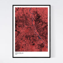 Load image into Gallery viewer, New Delhi City Map Print