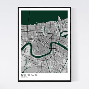 New Orleans City Map Print