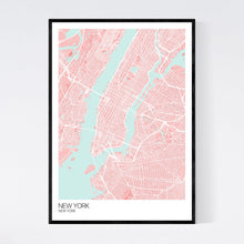 Load image into Gallery viewer, New York City Map Print