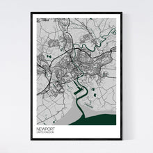 Load image into Gallery viewer, Newport City Map Print