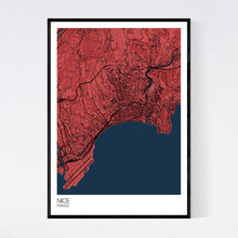 Load image into Gallery viewer, Nice City Map Print