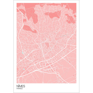Map of Nîmes, France