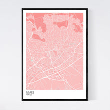 Load image into Gallery viewer, Map of Nîmes, France