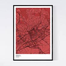 Load image into Gallery viewer, Nîmes City Map Print