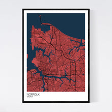 Load image into Gallery viewer, Map of Norfolk, Virginia