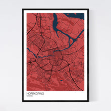 Load image into Gallery viewer, Norrköping City Map Print