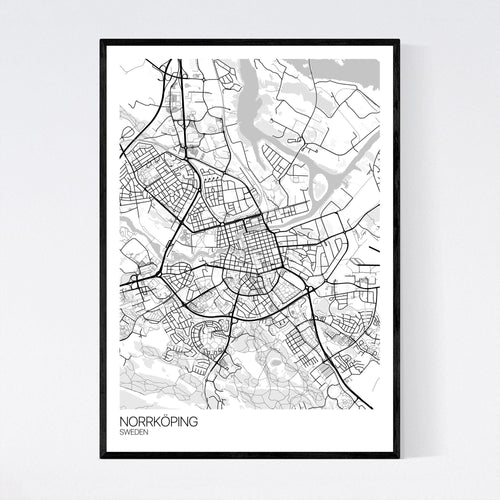Norrköping City Map Print