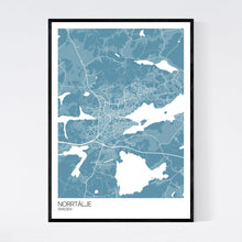 Load image into Gallery viewer, Norrtälje Town Map Print