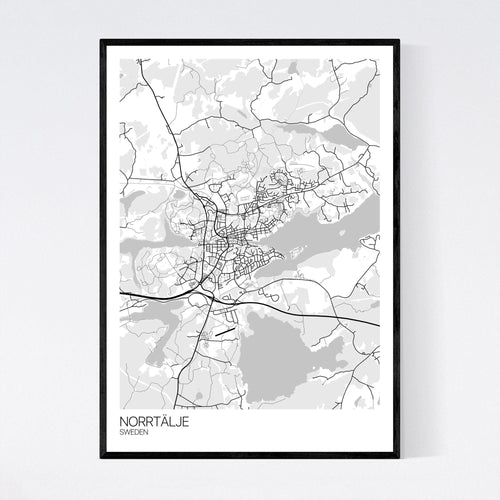 Map of Norrtälje, Sweden