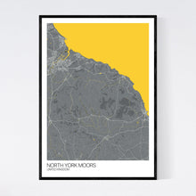 Load image into Gallery viewer, North York Moors Region Map Print