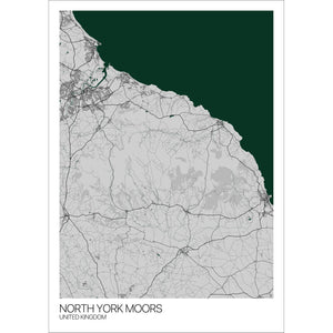 Map of North York Moors, United Kingdom