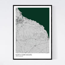 Load image into Gallery viewer, Map of North York Moors, United Kingdom