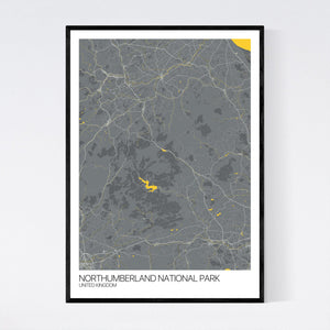 Northumberland National Park Region Map Print