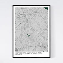 Load image into Gallery viewer, Northumberland National Park Region Map Print