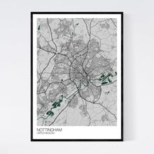 Load image into Gallery viewer, Map of Nottingham, United Kingdom