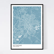 Load image into Gallery viewer, Nottingham City Map Print