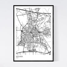 Load image into Gallery viewer, Map of Novara, Italy