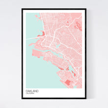 Load image into Gallery viewer, Oakland City Map Print