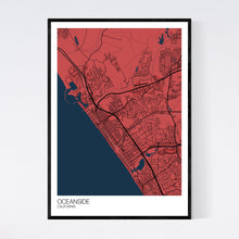 Load image into Gallery viewer, Oceanside City Map Print