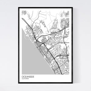 Oceanside City Map Print