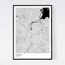 Load image into Gallery viewer, Odense City Map Print