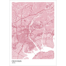 Load image into Gallery viewer, Map of Okayama, Japan