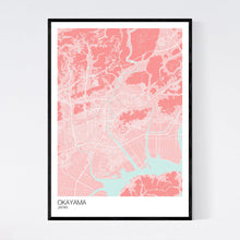 Load image into Gallery viewer, Okayama City Map Print