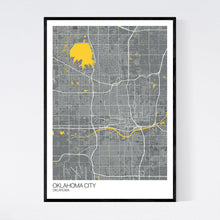 Load image into Gallery viewer, Map of Oklahoma City, Oklahoma