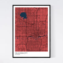 Load image into Gallery viewer, Oklahoma City City Map Print
