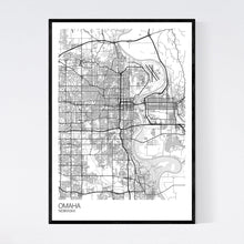 Load image into Gallery viewer, Omaha City Map Print