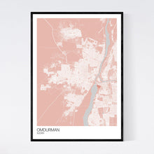 Load image into Gallery viewer, Omdurman City Map Print
