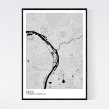 Load image into Gallery viewer, Omsk City Map Print