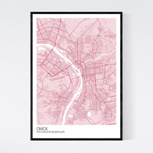 Load image into Gallery viewer, Map of Omsk, Russia