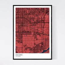 Load image into Gallery viewer, Ontario City Map Print