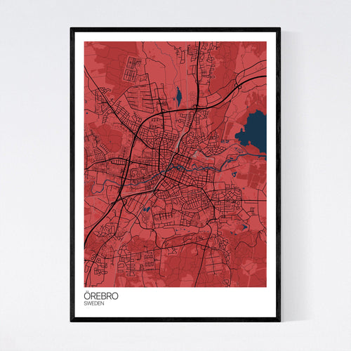 Örebro City Map Print