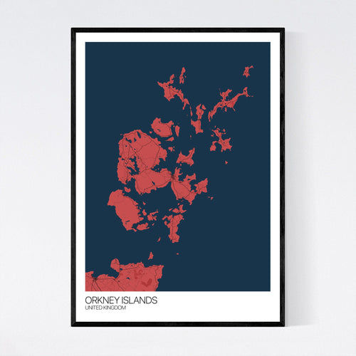 Map of Orkney Islands, United Kingdom