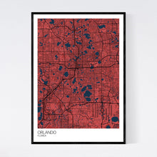 Load image into Gallery viewer, Orlando City Map Print
